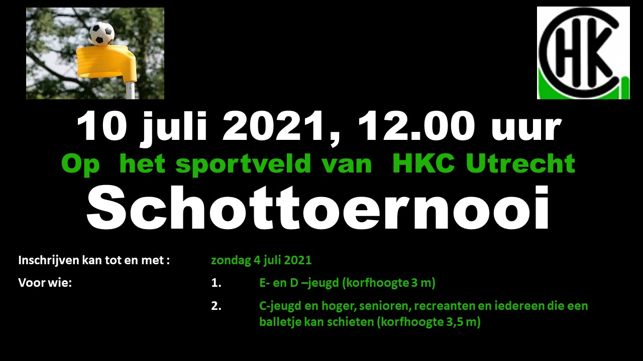 Schottoernooi zaterdag 10 juli 2021 - Meld je nu aan!